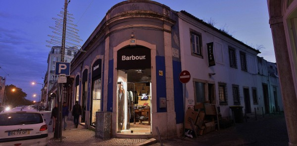 Barbour International, cloth shop in Lisbon, Portugal